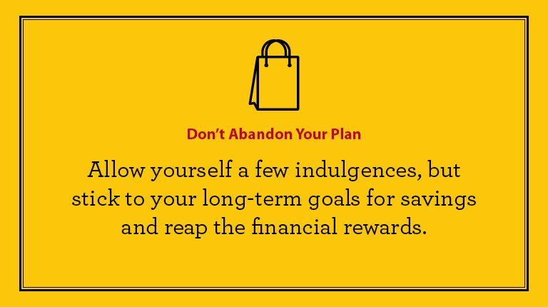 Budgeting tips - Don't abandon your plan