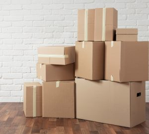 pile of boxes that can be stored donated or kept