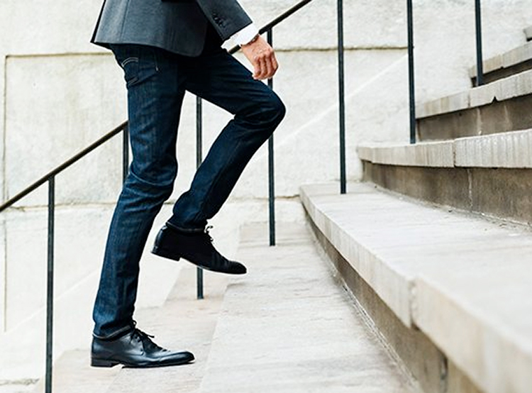 walking about stairs advancing career