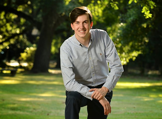 Fletcher Wade, a double-major in business and finance, and computer science at Indiana University Bloomington.